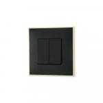 Prekidac serijski zlatno crne boje za uredjenje stana. Detalj koji oplemenju prostor!