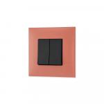 Prekidac serijski u boji zemlje (Terra di Siena) sa crnim mehanizmom za uredjenje stana. Detalj koji oplemenju prostor!