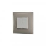 Prekidac serijski krem boje sa belim mehanizmom za uredjenje stana. Detalj koji oplemenju prostor!