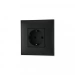 Uticnica crna, sa toniranim okvirom u boji crnog satena i sa crnim mehanizmom za uređenje stana. Detalj koji oplemenju prostor!