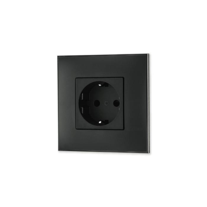 Uticnica crna sa toniranim okvirom sa metalnim efektom nila i sa crnim mehanizmom za uređenje stana. Detalj koji oplemenju prostor!